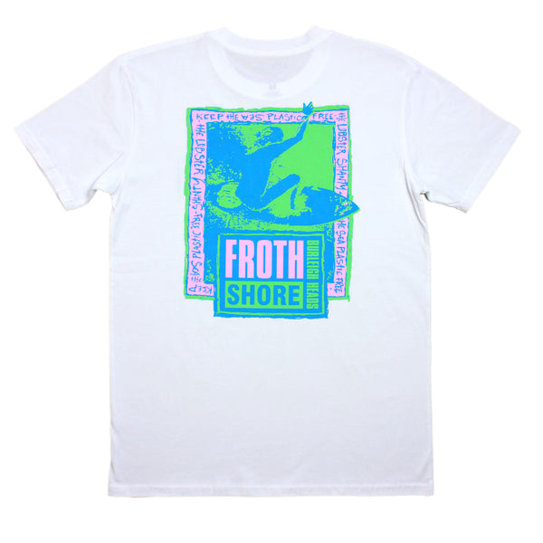 Froth Shore White Tee