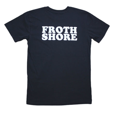 Froth Shore Black Tee