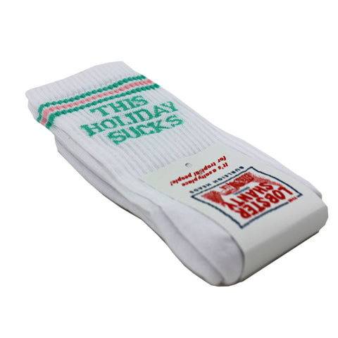 Holiday Suck White Socks