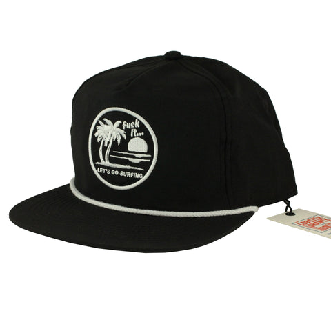 Lets Go Surfing Nylon Cap