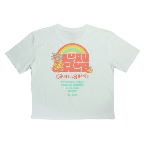 Luau Club Ladies Crop Tee