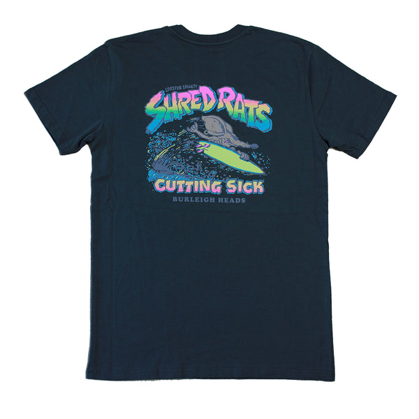 Shred Rats Faded Black Tee