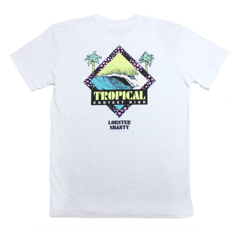 Tropical Contact High White Tee
