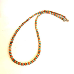 Turquoise and Spiny Oyster Strand Necklace