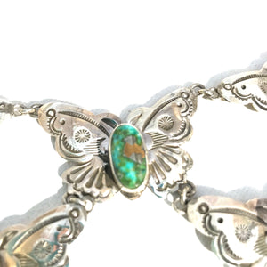 Stunning Butterfly cascade Navajo necklace