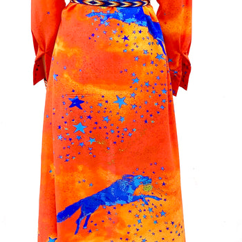 Jessie Western stunning orange wolf dress limited edition