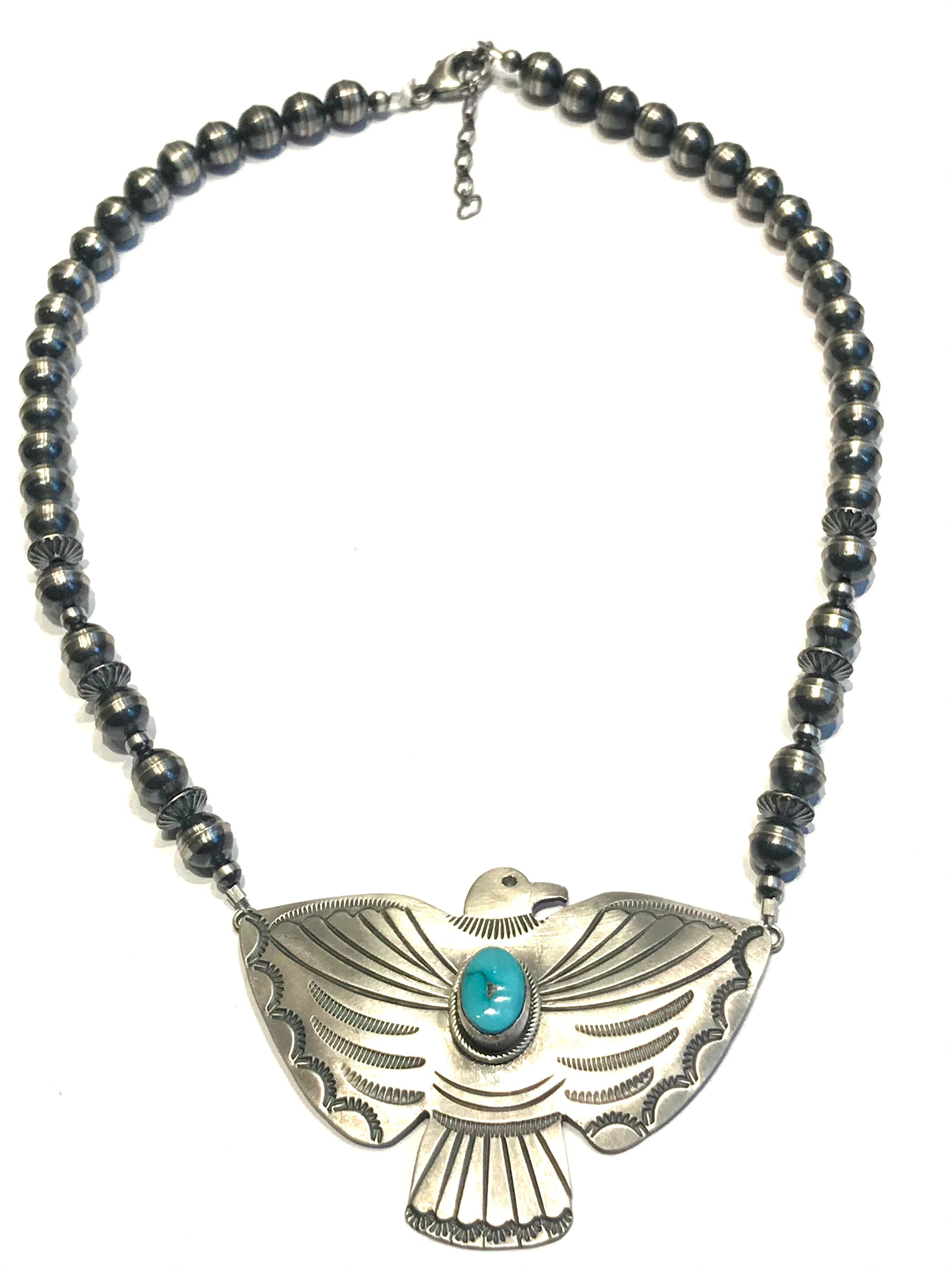 Amazing eagle/ thunderbird Navajo necklace