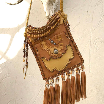 Fringed custom made bag