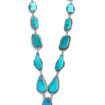 Amazing super long Navajo turquoise Stunning long necklace