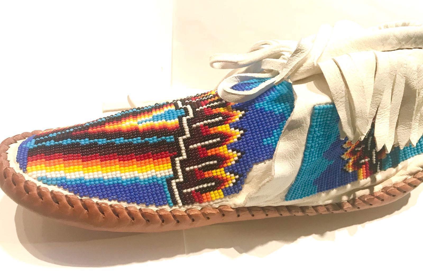 Dark blue fire Moccasins