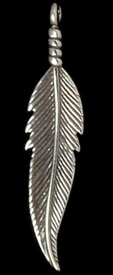 Large Feather Charm