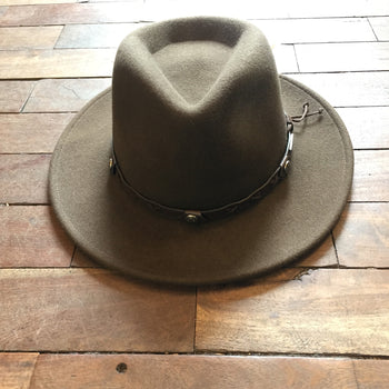 Brown/Green Stetson Hat
