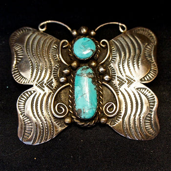 1970s Butterfly Navajo Pin/Pendant