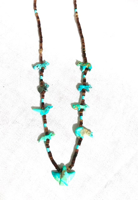 Turquoise short power animal necklace coming soon
