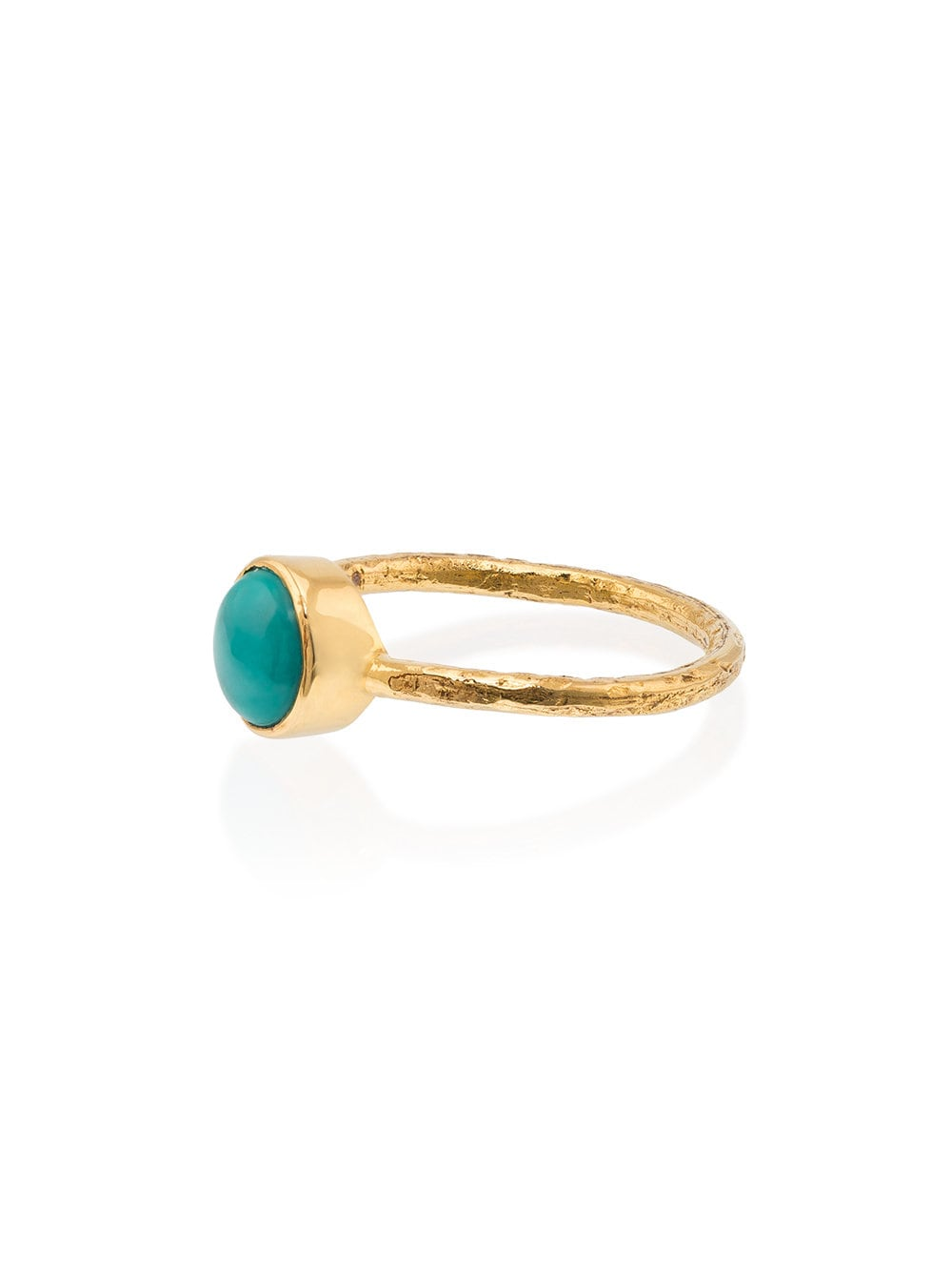 18k gold and turquoise Sleeping Beauty ring