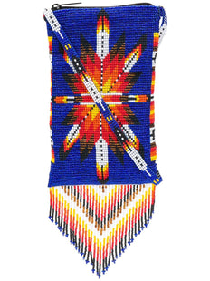 Indigo Morning Star Fringed Crossbody Bag