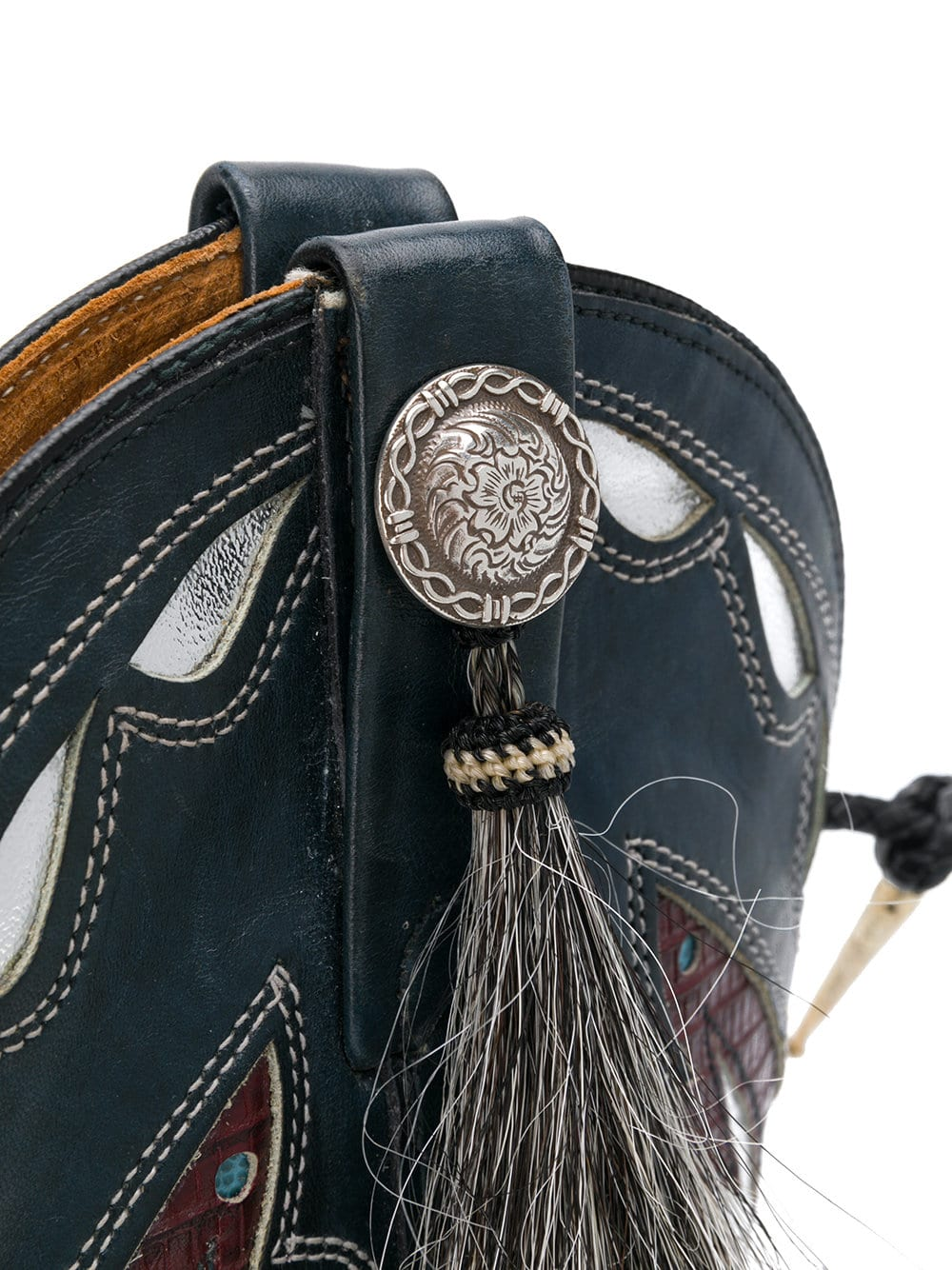 Silver Butterfly Boot Bag