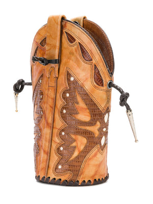 Tan Butterfly Boot Bag