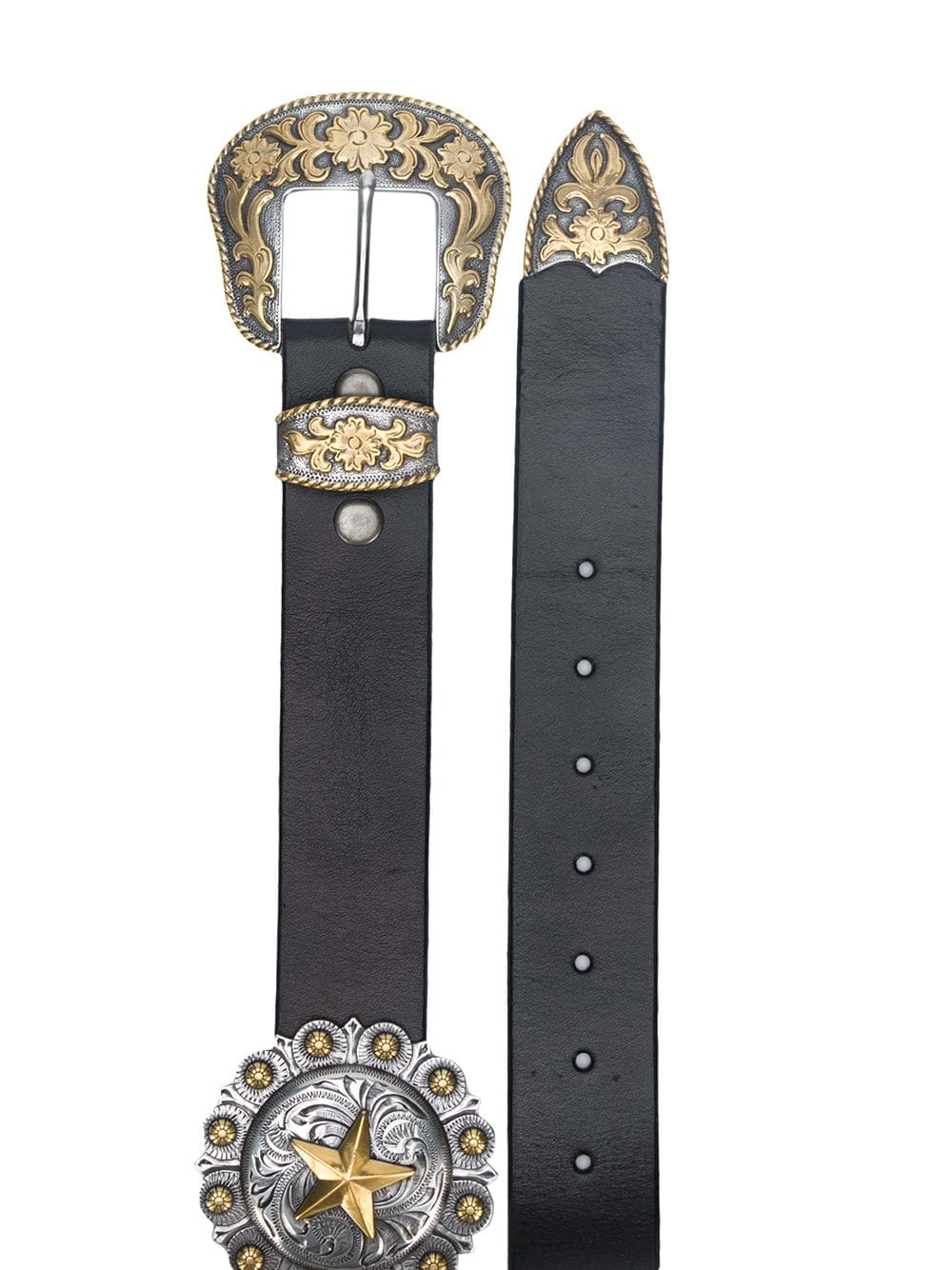 Concho star belt belt Black