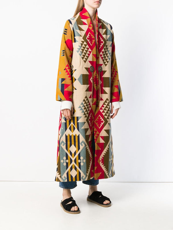 Long duster blanket coat