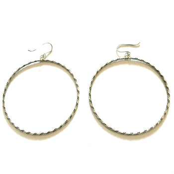 Navajo large hoop earrings