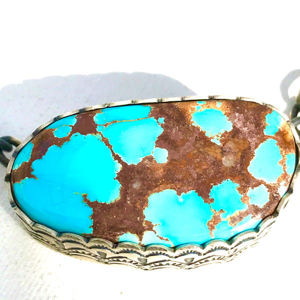 Navajo Large stone turquoise necklace
