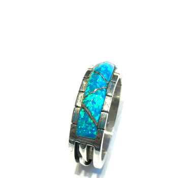 New Opal heavy gauge sterling silver ring