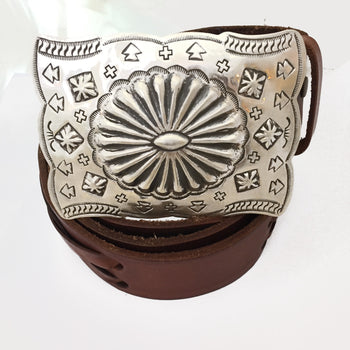 Navajo large punch work buckle