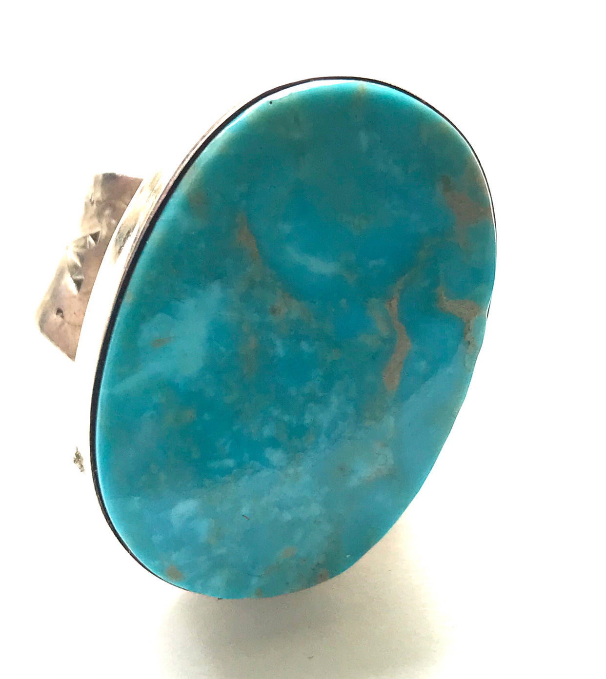 Oval adjustable large stone ring