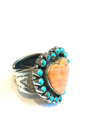 Navajo heart ring