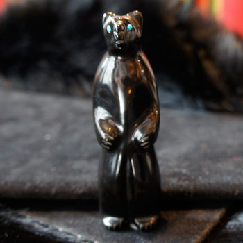 Zuni Standing Fetish Bear