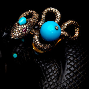 snake in diamonds and sleeping beauty turquoise