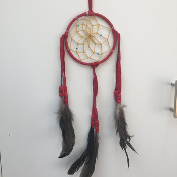 Dream catcher red suede