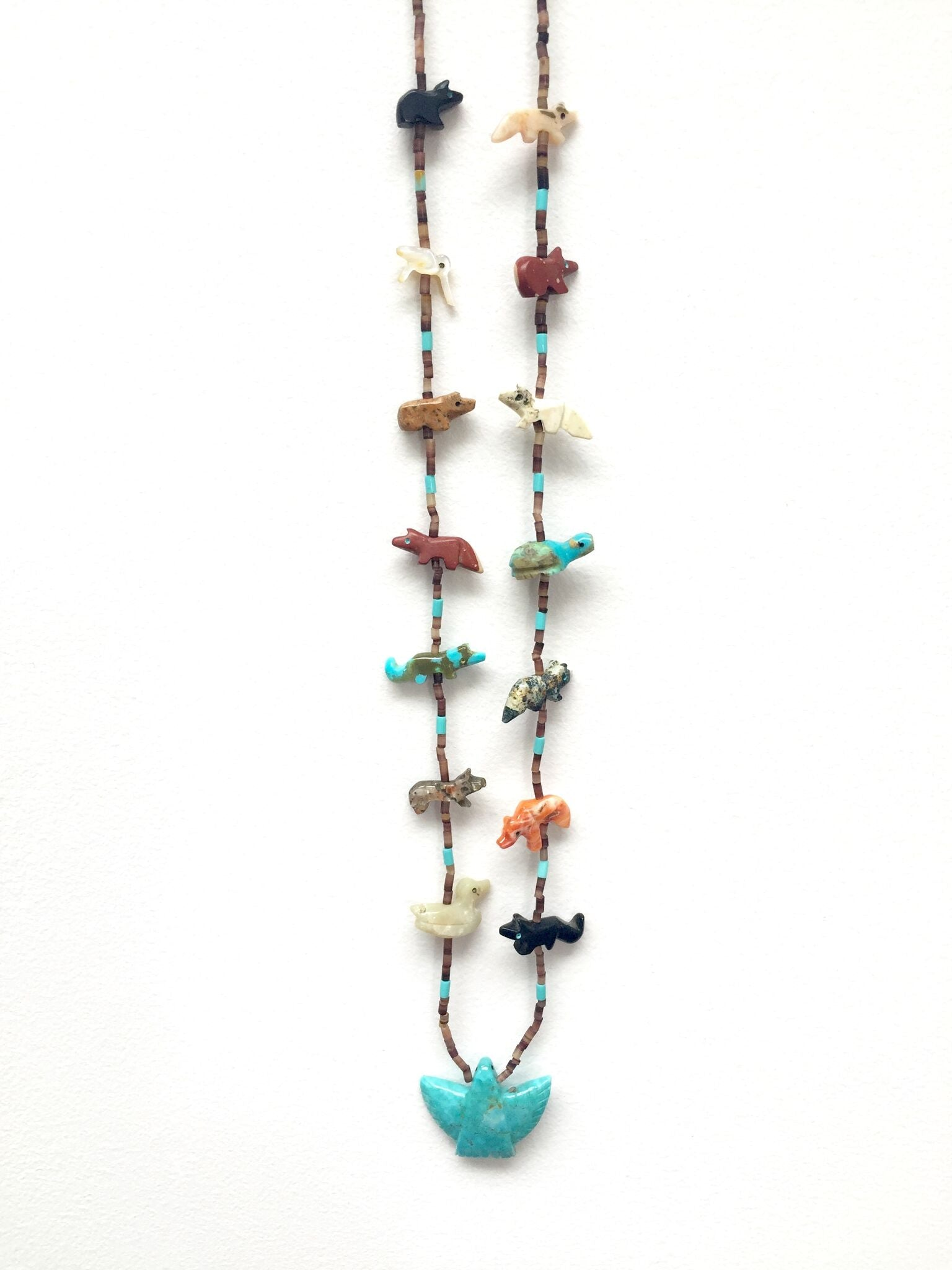 Power Animal Necklace with Eagle Multistone