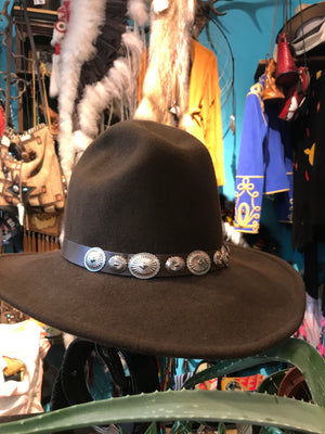 Brown concho hat