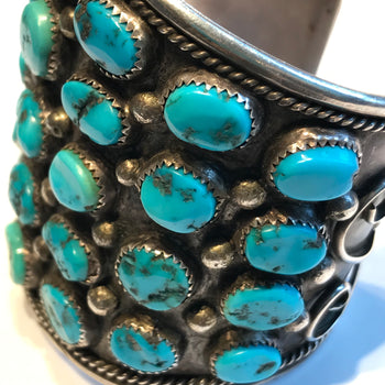 Amazing 5 row wide bracelet Navajo