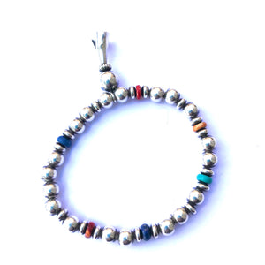 Sterling silver hand made Navajo chain bracelets