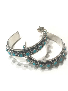 Turquoise hoop Native Anerican Indian made