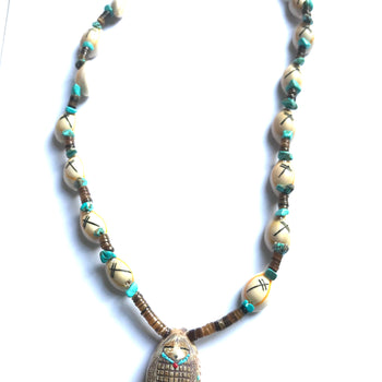 Cornmaiden shell necklace power animal necklace