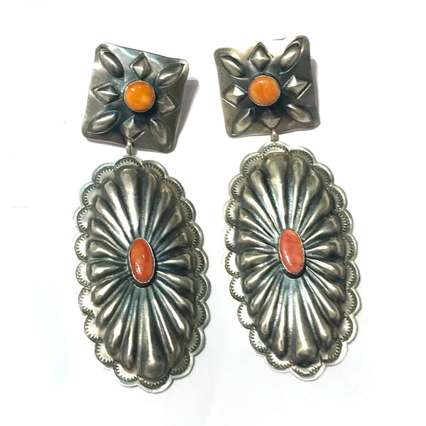 Amazing Navajo  concho spiny earrings