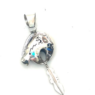 Bear silver pendent
