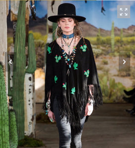 Just in Hand beaded cactus poncho