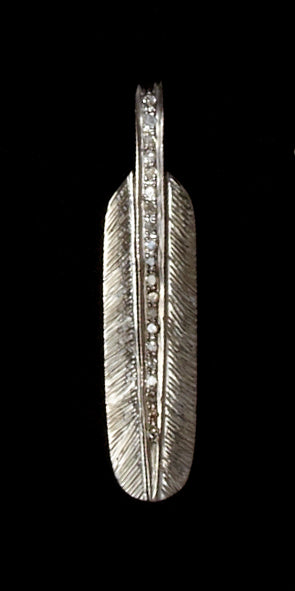 Diamond Detailed Feather Charm