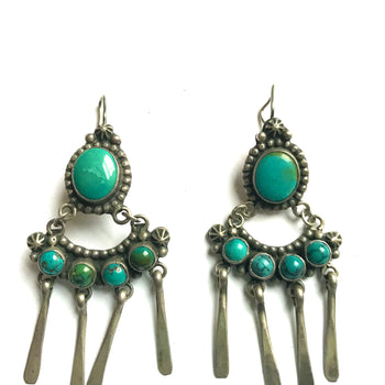 Stunning vintage Navajo earrings