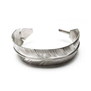 Feather Navajo Sterling Silver Bracelet
