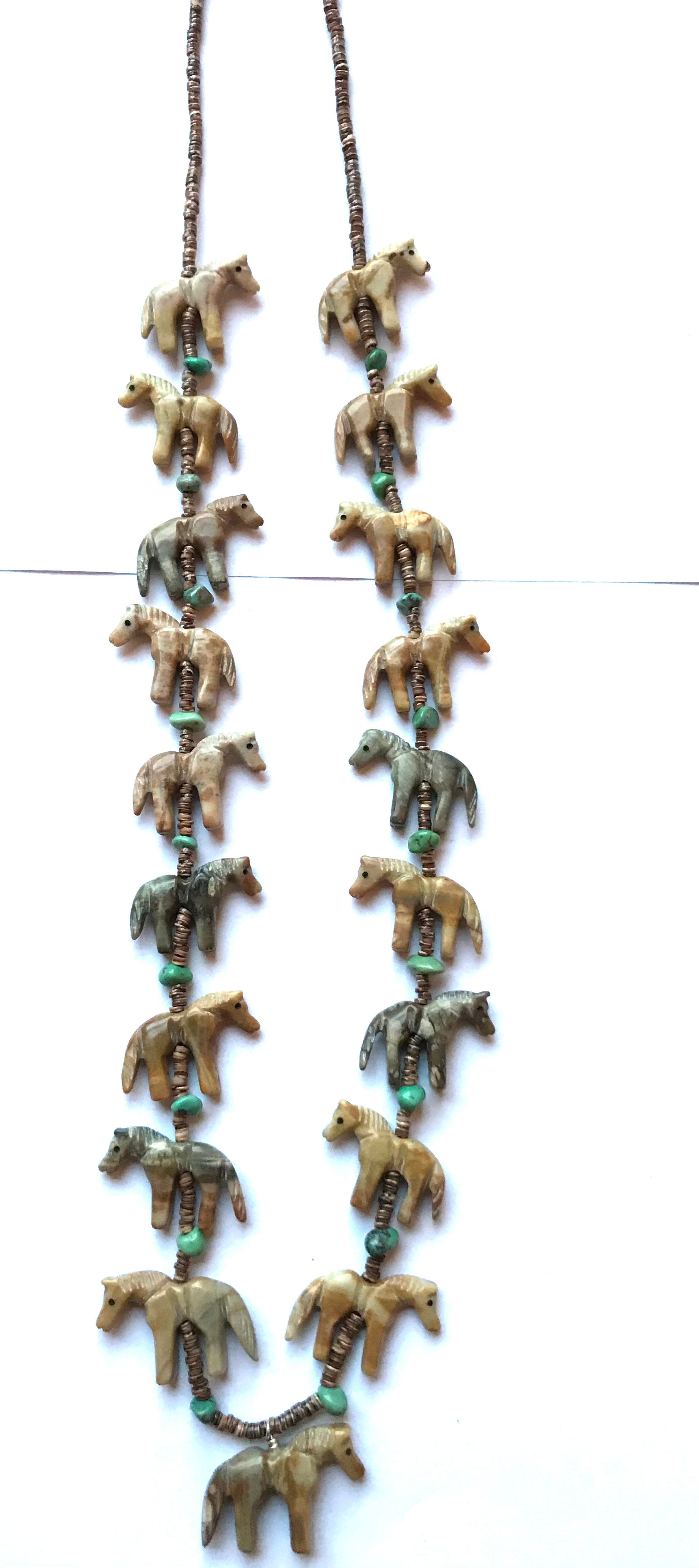 New super long horse power animal necklace