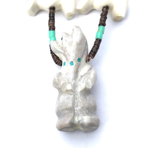 Antler power animal necklace