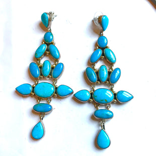 Amazing turquoise super 4 inch earrings