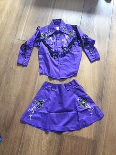 Kids western skirt and shirt