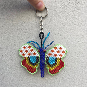 Butterfly Beaded Keyring